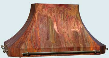 Custom Copper Range Hoods French Sweep 4937
