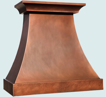 Custom Copper Range Hoods Double Sweep 5013