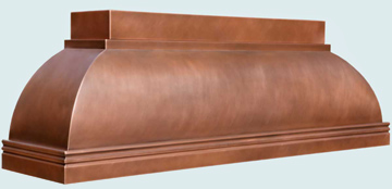 Custom Copper Range Hoods Double Roll 5043