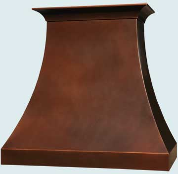 Custom Copper Range Hoods Double Sweep 5065