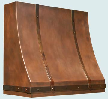 Custom Copper Range Hoods Sweep Front 5140