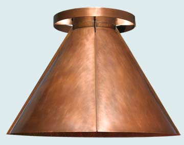 Custom Copper Range Hood #5142 | Handcrafted Metal Inc