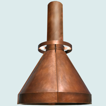 Custom Copper Range Hood #5143 | Handcrafted Metal Inc