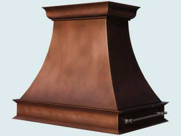 Custom Copper Range Hoods Double Sweep 5152