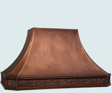 Custom Copper Range Hood #5180 | Handcrafted Metal Inc