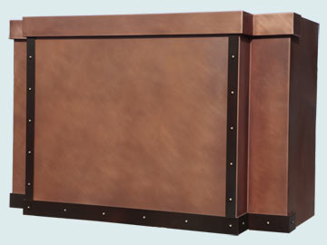 Custom Copper Range Hood #5199 | Handcrafted Metal Inc