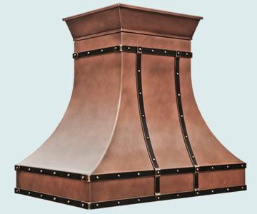 Custom Copper Range Hoods Double Sweep 5200