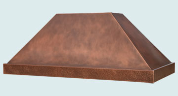 Custom Copper Range Hood #5204 | Handcrafted Metal Inc