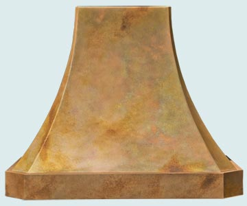 Custom Copper Range Hoods French Sweep 5312