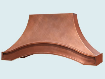 Custom Copper Range Hood #5371 | Handcrafted Metal Inc