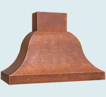 Custom Copper Range Hood #5375 | Handcrafted Metal Inc