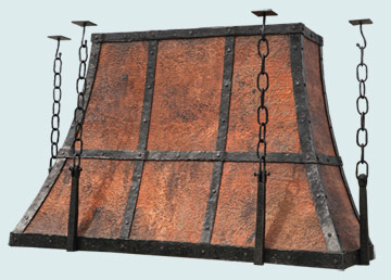 Custom Copper Range Hood #5430 | Handcrafted Metal Inc