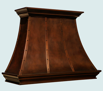 Custom Copper Range Hood #6500 | Handcrafted Metal Inc