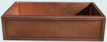 Kitchen Sinks - Copper Kitchen Sinks- Special Aprons Copper Kitchen Sinks - Framed Apron With Single Compartment # 2848