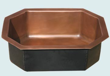 Custom Copper Bar Sinks #3546 | Handcrafted Metal Inc