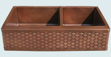 Custom Copper Kitchen Sinks #3650 | Handcrafted Metal Inc