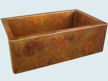 Kitchen Sinks - Copper Kitchen Sinks- Old World Patinas Copper Kitchen Sinks - Eva's Favorite On Interior & Apron # 4216
