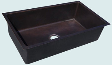 Kitchen Sinks - Bronze Kitchen Sinks- Custom Kitchen Sinks Bronze Kitchen Sinks - Large Undermount Sink # 4496