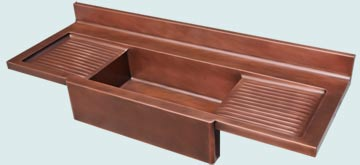 Kitchen Sinks - Copper Kitchen Sinks- Kitchen Centers Copper Kitchen Sinks - Extended Apron  # 4877