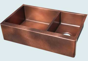 Custom Copper Kitchen Sinks #5076 | Handcrafted Metal Inc