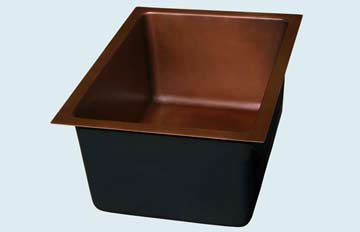 Bar Sinks - Copper Bar Sinks- Round Copper Bar Sinks - Hallo Dandy # 2889