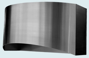 Custom Stainless Range Hood #2478 | Handcrafted Metal Inc
