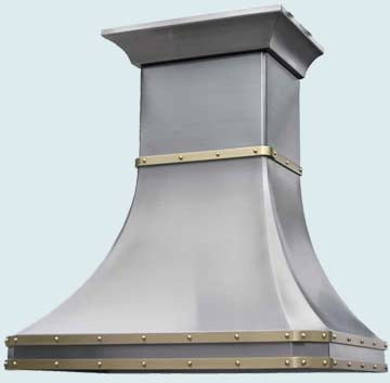 Custom Stainless Range Hoods French Country 2482