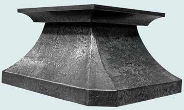Custom Zinc Range Hood #2475 | Handcrafted Metal Inc