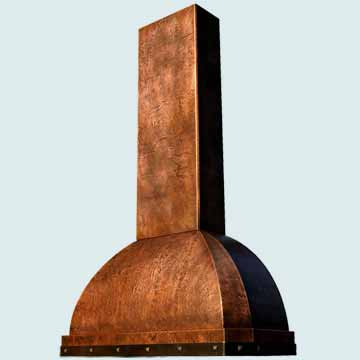 Custom Copper Range Hood #2575 | Handcrafted Metal Inc