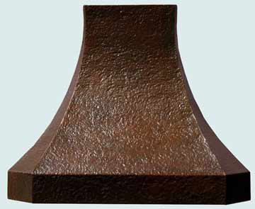 Custom Copper Range Hoods French Sweep 2461