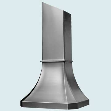 Custom Stainless Range Hoods French Sweep 2488