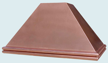 Custom Copper Range Hoods Pyramid 2570