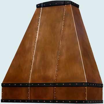 Custom Copper Range Hood #2527 | Handcrafted Metal Inc