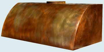 Custom Copper Range Hoods Single Roll 2423