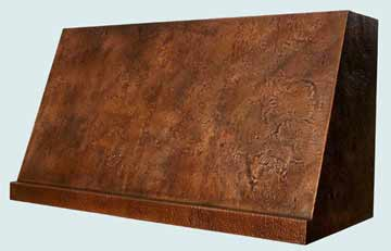 Custom Copper Range Hood #2511 | Handcrafted Metal Inc