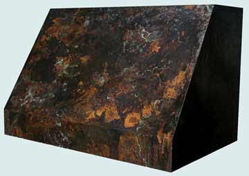 Custom Copper Range Hood #2564 | Handcrafted Metal Inc