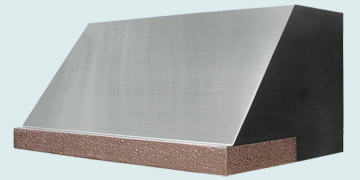 Custom Stainless Range Hoods Slope Front 2493