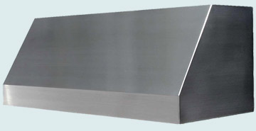 Custom Stainless Range Hoods Slope Front 2495
