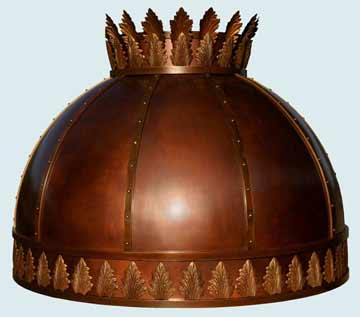 Custom Copper Range Hoods Spherical 2425