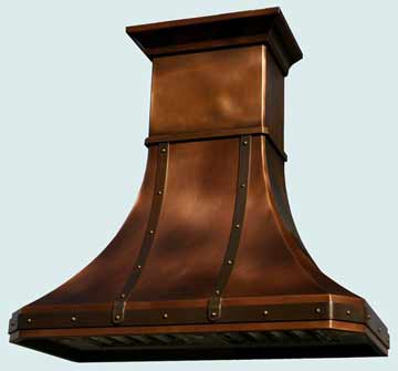 Custom Copper Range Hood #2447 | Handcrafted Metal Inc