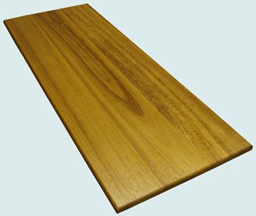 Wood Countertops - Iroko Wood Countertops- Face Grain Iroko wood Countertops - Face grain Iroko # 4081