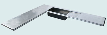 Countertops - Pewter Countertops- L Shape Pewter Countertops - Pewter Sink and Drainboard # 3933