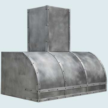 Custom Pewter Range Hoods Single Roll 4530