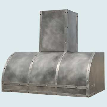 Custom Zinc Range Hoods Single Roll 5292