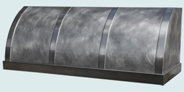 Custom Pewter Range Hood #4786 | Handcrafted Metal Inc