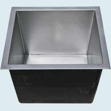 Bar Sinks - Pewter Bar Sinks- Bar & Prep Sinks Pewter Bar Sinks - Pewter Square Corners # 5055