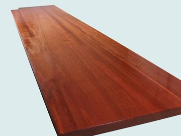 Wood Countertops - Sipo Mahogany Wood Countertops- Face Grain Sipo Mahogany wood Countertops - Face grain Sipo Mahogany # 4069