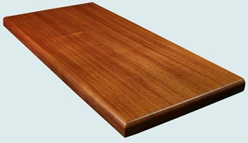 Wood Countertops - Sipo Mahogany Wood Countertops- Face Grain Sipo Mahogany wood Countertops - Sipo Mahogany # 4137