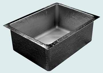 Kitchen Sinks - Pewter Kitchen Sinks- Custom Kitchen Sinks Pewter Kitchen Sinks - Undermount Prep Sink  # 3693