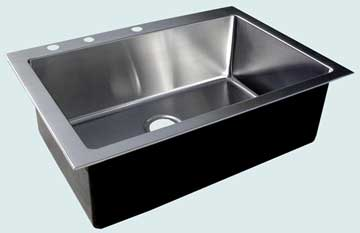 Kitchen Sinks - Stainless Kitchen Sinks- Custom Kitchen Sinks Stainless Kitchen Sinks - Drop-In Classic Single # 3708